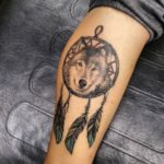 wolf-dreamcatcher-tattoos