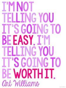 worth it inspirational graduation quote